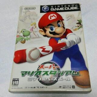 ニンテンドーゲームキューブ(ニンテンドーゲームキューブ)のスーパーマリオ スタジアム ミラクルベースボール 野球 ゲーム カセット(家庭用ゲームソフト)