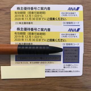 エーエヌエー(ゼンニッポンクウユ)(ANA(全日本空輸))のANA 株主優待券 2枚セット 期限2021年5月(航空券)