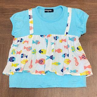クレードスコープ(kladskap)のクレードスコープ Tシャツ 重ね着風 未使用品 サイズ100cm(Tシャツ/カットソー)
