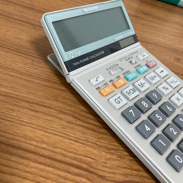 SHARP(シャープ)のSHARP 電卓(12桁) インテリア/住まい/日用品のオフィス用品(OA機器)の商品写真