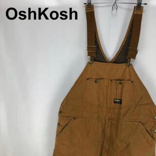 OshKosh - オシュコシュ☆ロゴタグ ブラウン キルティング ダックオーバーオール