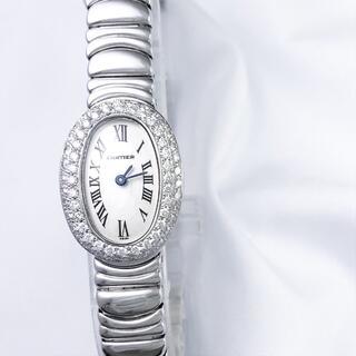Cartier - 【仕上済】カルティエ ミニベニュワール WG ダイヤ レディース 腕時計