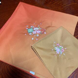 ふろしき ふくさ 2枚セット お揃い 桜(和装小物)