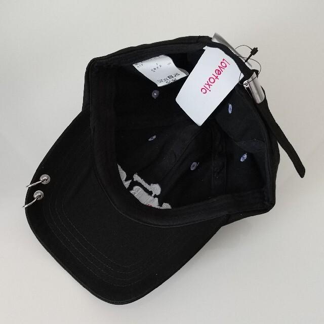 lovetoxic(ラブトキシック)のラブトキシック 新品 キャップ 黒 キッズ/ベビー/マタニティのこども用ファッション小物(帽子)の商品写真
