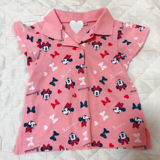 ディズニー(Disney)のディズニーリゾート ミニーポロシャツ 80サイズ(Tシャツ)
