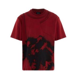 カラー(kolor)のFeng Chen wang フェンチェンワン Tシャツ タイダイ レッド 赤(Tシャツ/カットソー(七分/長袖))