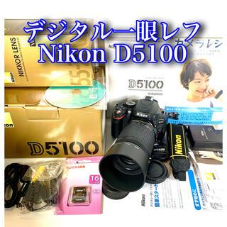 Nikon - Nikon  一眼レフ カメラ D5100 動画 手振補正 wi-fiSD変更可