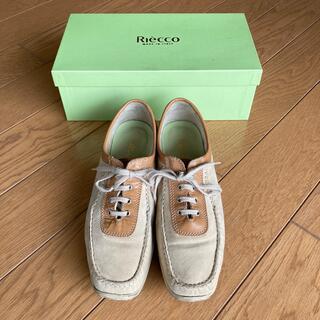 Riecco 靴 C幅 甲低い 幅細 幅狭 23.5〜24 ウォーキングシューズ(ローファー/革靴)