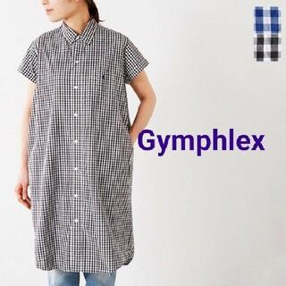 GYMPHLEX - 美品★Gymphlex(ジムフレックス)ギンガムチェックシャツワンピース
