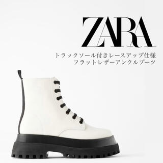 ZARA - ZARA レザー アンクルブーツ