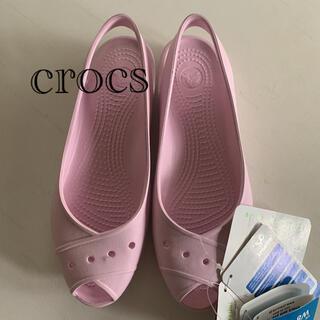 crocs - ☆新品 ☆crocs クロックス サンダル ピンク W8  24cm