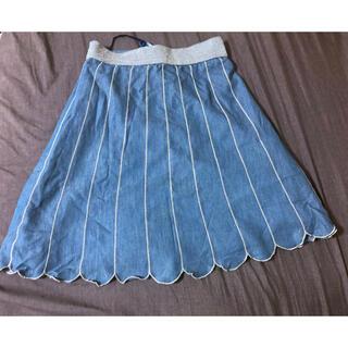 アイズビット(ISBIT)のISBIT シェルモチーフ スカート Mサイズ(ひざ丈スカート)