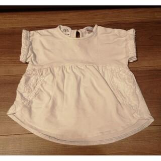 ザラ(ZARA)のZARA 刺繍 白Tシャツ 80(Tシャツ)