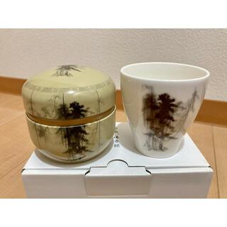 NIKKO - 長谷川等伯図柄 茶缶・湯呑みセット