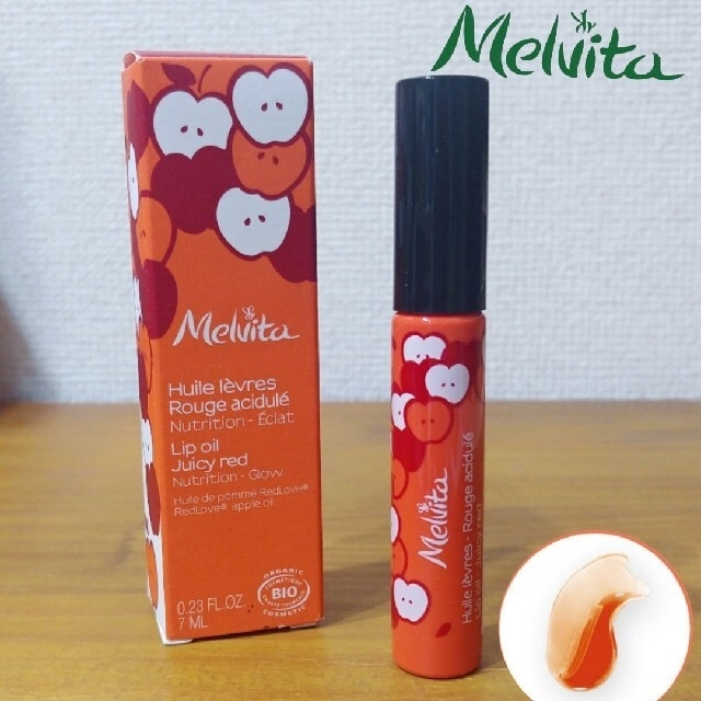 Melvita(メルヴィータ)の新品 メルヴィータ リップグロス リップオイル コーラルレッド グロス リップ コスメ/美容のベースメイク/化粧品(リップグロス)の商品写真