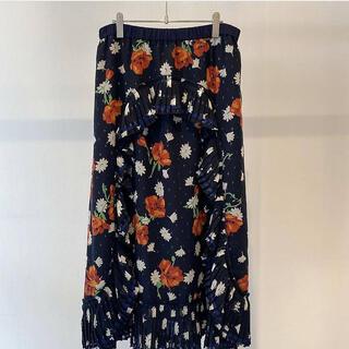 ミュベールワーク(MUVEIL WORK)のmuveil フラワープリントスカート(ロングスカート)