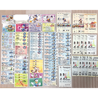 ディズニー(Disney)の希少 ディズニーランド ディズニーシー 使用済み チケット 株主用パスポート(遊園地/テーマパーク)