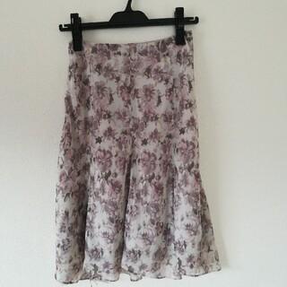 エニィスィス(anySiS)のお得♪any sis フレアースカート(ひざ丈スカート)