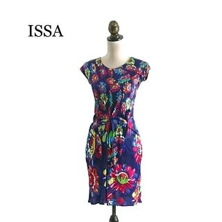 イッサロンドン(Issa London)の美品 ISSA イッサ ワンピース(ひざ丈ワンピース)