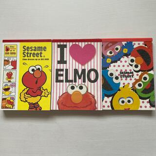 セサミストリート(SESAME STREET)のSesame Street ELMO エルモ メモ帳 メモ レター 3冊セット(キャラクターグッズ)