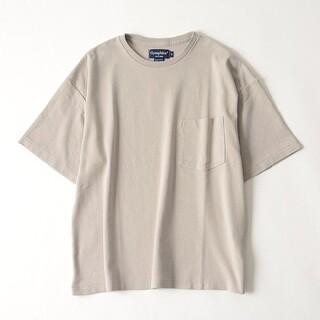 GYMPHLEX - Gymphlex クルーネック ワイドシルエット ポケットTシャツ