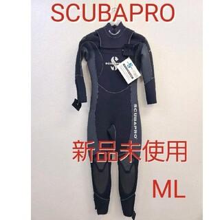 スキューバプロ(SCUBAPRO)の新品 スキューバプロ 5mm ウェットスーツ スキューバダイビングフルスーツML(マリン/スイミング)