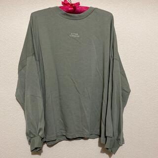 シマムラ(しまむら)のPAロゴシシュウロングT 淡緑 3L(Tシャツ/カットソー(七分/長袖))