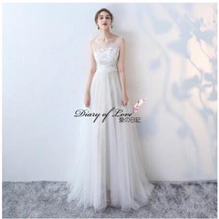 ウェディングドレス♡刺繍チュール(ウェディングドレス)