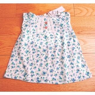 ニシマツヤ(西松屋)のベビー服◆キッズ服◆トップス◆Tシャツ◆ノースリーブ◆花柄◆フラワー◆95(Tシャツ/カットソー)