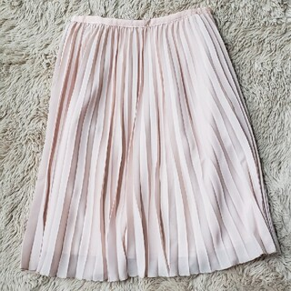 エル(ELLE)のELLE エル プリーツスカート くすみピンク サイズ36(ひざ丈スカート)