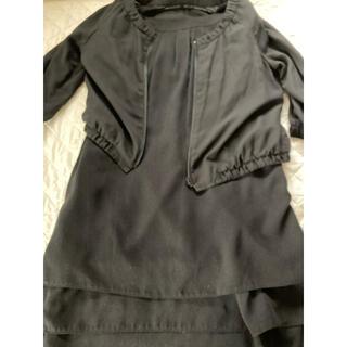 エムケーミッシェルクラン(MK MICHEL KLEIN)のワンピandジャケット セットアップ 黒(礼服/喪服)
