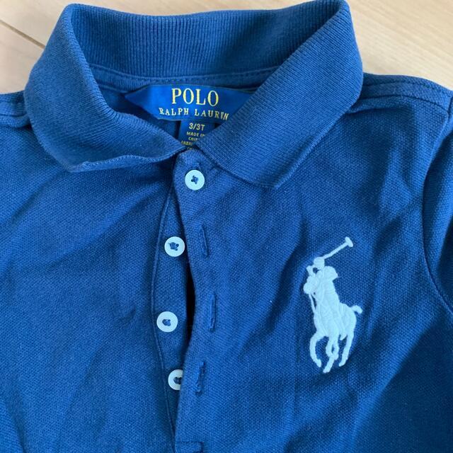 POLO RALPH LAUREN(ポロラルフローレン)のラルフローレン 3T  ワンピース ネイビー キッズ/ベビー/マタニティのキッズ服女の子用(90cm~)(ワンピース)の商品写真