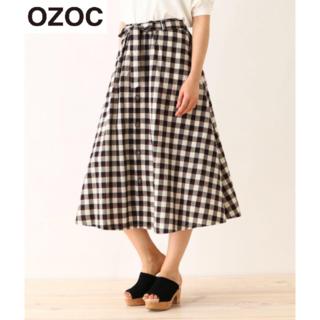 オゾック(OZOC)の新品★OZOCのチェックのたっぷりフレアースカート(ロングスカート)