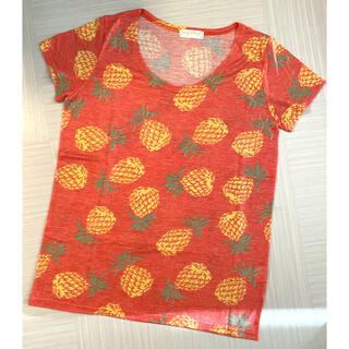 アナップミンピ(anap mimpi)の美品‼︎ anapmimpi アナップ レディース Tシャツ パイナップル(Tシャツ(半袖/袖なし))