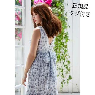 スナイデル(snidel)のher lip to Pleated Floral Midi Dress(ロングワンピース/マキシワンピース)