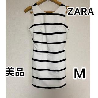ザラ(ZARA)の美品 ZARA ♡ ワンピース風ボーダーロンパース(オールインワン)