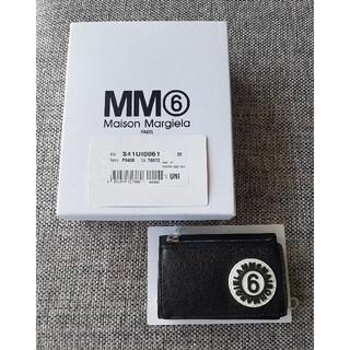 エムエムシックス(MM6)のMM6 エムエム6 メゾンマルジェラ 三つ折財布 ブラック(財布)