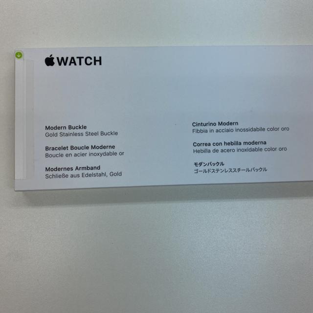 Apple Watch(アップルウォッチ)の新品未開封品 apple watch純正品バンド モダンバックル 正規品 スマホ/家電/カメラのスマートフォン/携帯電話(その他)の商品写真