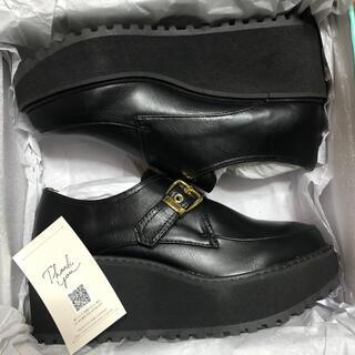 アシナガオジサン(あしながおじさん)の新品 LLサイズ あしながおじさん ウェッジソール マニッシュシューズ(ローファー/革靴)