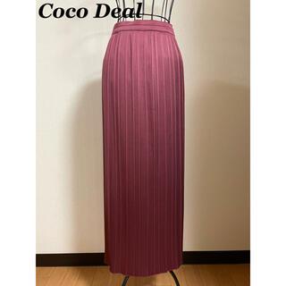 COCO DEAL - CocoDeal ココディール プリーツ ロングスカート サテン ボルドー