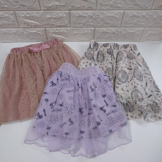 ディズニー(Disney)の【中古】プリンセス スカート 3枚セット (スカート)
