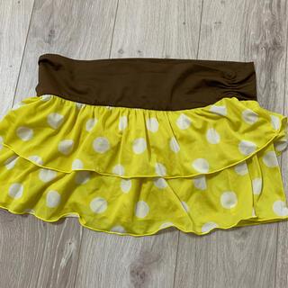 エイプリルセブンティセブン(April77)の水着用のスカート 黄色水玉 Lサイズ(水着)