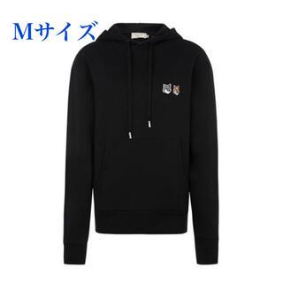 MAISON KITSUNE' - メゾンキツネ ダブルフォックスヘッドパッチ パーカー 黒 Mサイズ