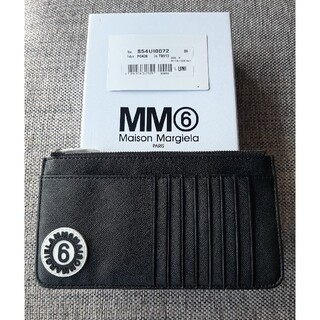 エムエムシックス(MM6)のMM6 エムエム6 メゾンマルジェラ 長財布 カードケース  ブラック(財布)