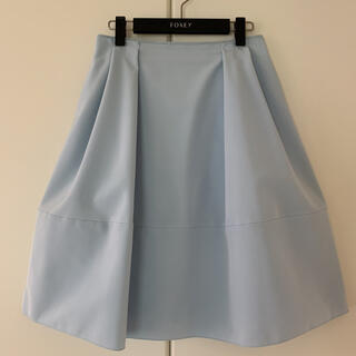 FOXEY - ♡極美品♡ FOXEY バロン スカート 40 42 ベビーブルー Barron