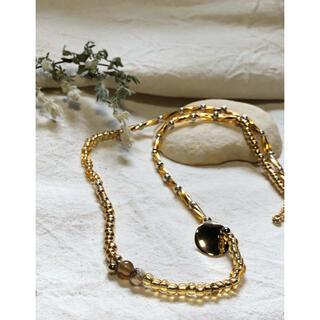 アトリエドゥサボン(l'atelier du savon)のサードアゲートとゴールドプレートのネックレス(ネックレス)