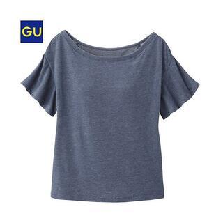 ジーユー(GU)の新品GU ブラフィール デニムライクT 半袖 Mサイズ ブラトップ(アンダーシャツ/防寒インナー)