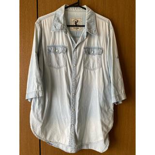バックナンバー(BACK NUMBER)の【Back Number】ビッグサイズデニムシャツ Mサイズ(シャツ/ブラウス(半袖/袖なし))