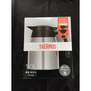 サーモス(THERMOS)のサーモス ステンレスポット 1L ステンレスブラック TTB-1000 SBK(調理道具/製菓道具)