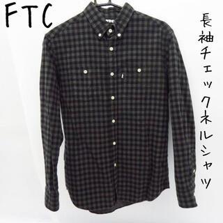 エフティーシー(FTC)のFTC/エフティーシー 長袖チェックボタンダウンネルシャツ/M(シャツ)